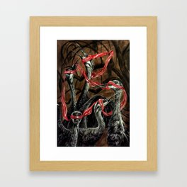 Red Tape Framed Art Print