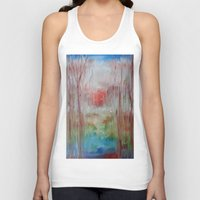 coral Tank Tops featuring Coral by Terese Dombrowski