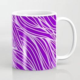 Violet Wave Lines Coffee Mug