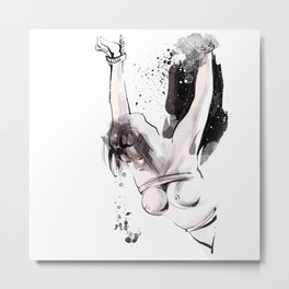 Shibari - Japanese BDSM Art Painting #15 Metal Print