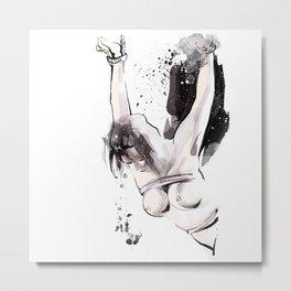 Shibari - Japanese BDSM Art Painting #15 Metal Print