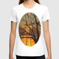 jewish T-shirts featuring Sunset Tree by Brown Eyed Lady