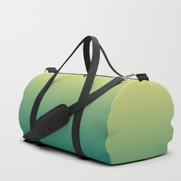 Yellow Lime Quetzal Green Ombre Gradient Pattern Duffle Bag