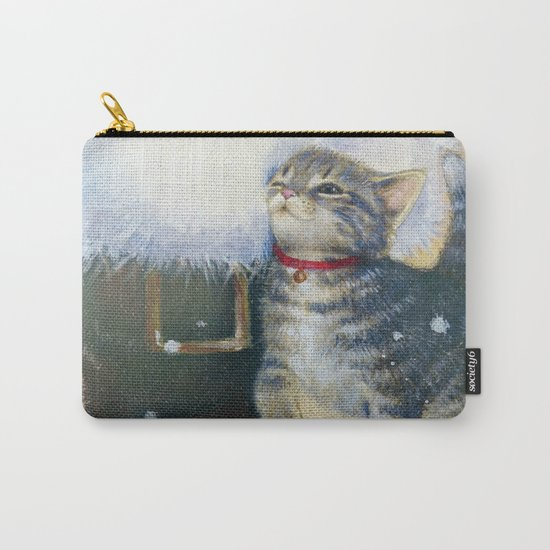 Kitten at Santa's Boot Carry-All Pouch