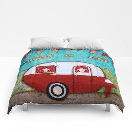 Vintage Camper Red Comforters