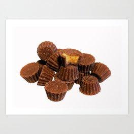 Mini Chocolate and Peanut Butter Treats Art Print