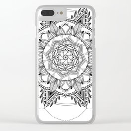 Mandala No. 3 Clear iPhone Case