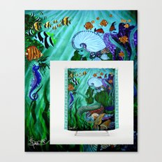 Mermaid Shower Curtain Available NOW! Canvas Print