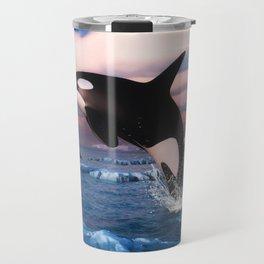 Killer whales in the Arctic Ocean Travel Mug
