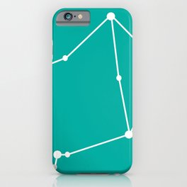 Libra (White & Turquoise) iPhone Case