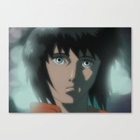 ghost in the shell Canvas Prints featuring Motoko (Ghost in the Shell) by XDimov