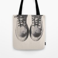 doctor Tote Bags featuring Doctor Doctor by ReginaRoad