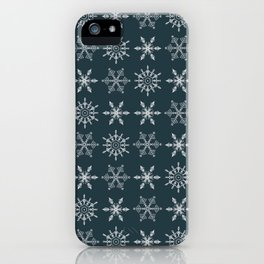 Snowflakes In A Row iPhone Case