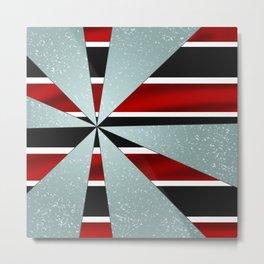 4Shades Glass: Red B/W Metal Print