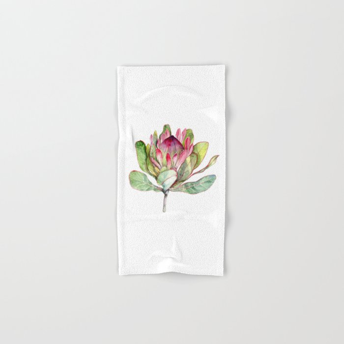 Protea Flower Hand & Bath Towel