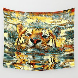 AnimalArt_Tiger_20170601_by_JAMColorsSpecial Wall Tapestry