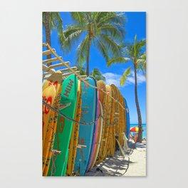 Hawaiian surfboards Canvas Print
