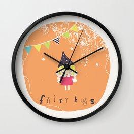 Fairy Hugs Wall Clock