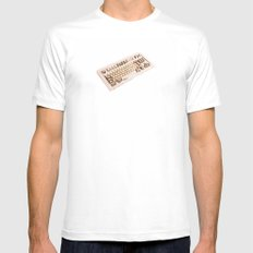 Computer keyboard Mens Fitted Tee White MEDIUM
