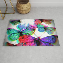 3D Butterfly Collection Rug