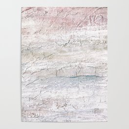 Soft Pastel Texture Acrylic Abstract Poster