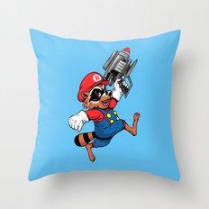 Super Rocket Throw Pillow