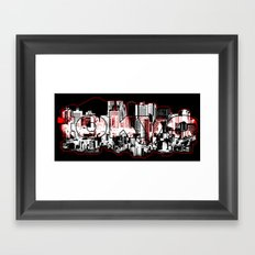 Tokyo skyline with Mount Fuji silhouette Framed Art Print
