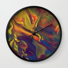 Paint Pouring 17 Wall Clock