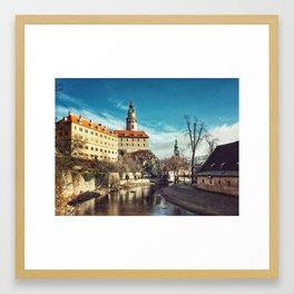 Cesky Krumlov Castle Framed Art Print