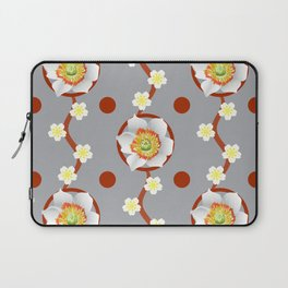 Flowers And Circles Laptop Sleeve