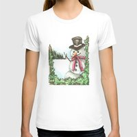 snowman T-shirts featuring Snowman... by Saltz