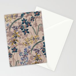 Grey Orchids Stationery Cards