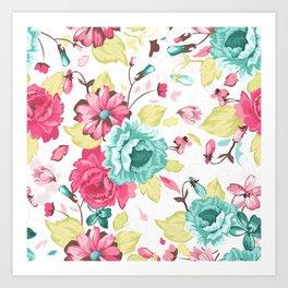 GIRLIE--FLOWER Art Print