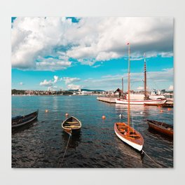 Oslo Boats Canvas Print