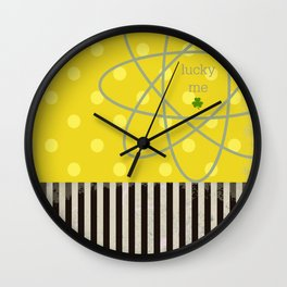 Lucky me, st patricks Wall Clock
