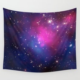 Dark Matter and Galaxies in a Cluster Wall Tapestry