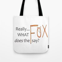 philosophy Tote Bags featuring Deep philosophy by elisabethfryd