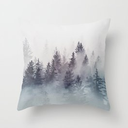Winter Wonderland - Stormy weather Throw Pillow