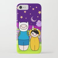 finn and jake iPhone & iPod Cases featuring Kokeshis Finn&Jake by Pendientera