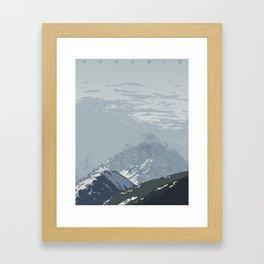 Pyramid Peak Framed Art Print