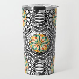 Beveled geometric pattern Travel Mug