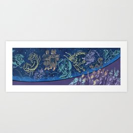 Trip to the Planetarium Art Print