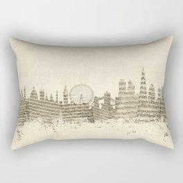 London England Skyline Sheet Music Cityscape Rectangular Pillow