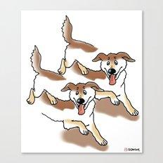 UNSTABLE HAPPY DOGS Canvas Print