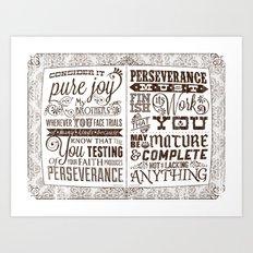 James 1:2-4 Art Print