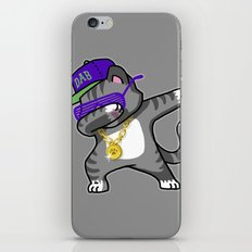 Dabbing Cat iPhone Skin