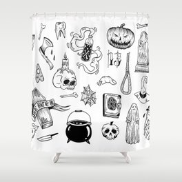 halloween flash Shower Curtain