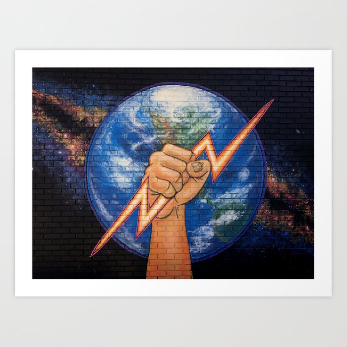 Earth Power (Mural at Battery Land, Gainesville FL Art Print