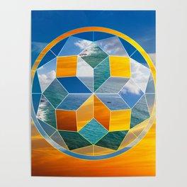 Sacred geometry sunset Poster