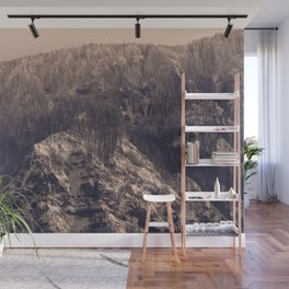 Early Hours - Winter Mountain Forest Snow Nature Photography Wall Mural